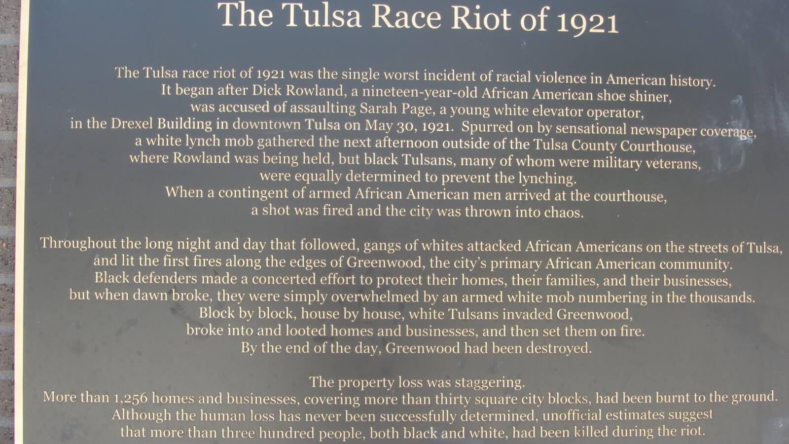 Tulsa-race-riots-beginning